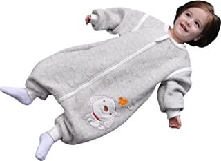 luyusbaby Baby Sleeping Bag 100% Cotton Toddler Wearable Blanket Small