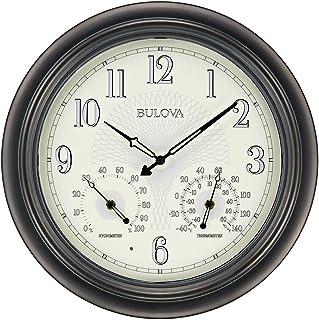 Bulova C4813 Weather Master Wall Clock, 18