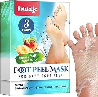 HOTSTUFFZ Peach Foot Peel Mask - Effective For Cracked Heels Repair, Remove Dead Skin, Callus & Dry Toe Skin - Baby Soft F...