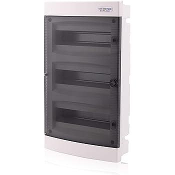Garanzia scatola incasso IP40 kamilux a contenitore 3-file 36 MODULI transparentee porta