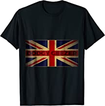 Funny British Slang T Shirt with Flag | Dodgy Geezer
