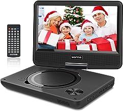 """WONNIE 9.5"""" Tragbarer DVD-Player drehbares HD Display 4 Stunden Akku, Unterstützt.."""