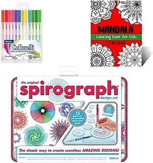 Spirograph Design Tin Set Creativity Kit for Kids - Includes Spirograph Design Tin Set, Multicolored Gel Pens, And Mandala...