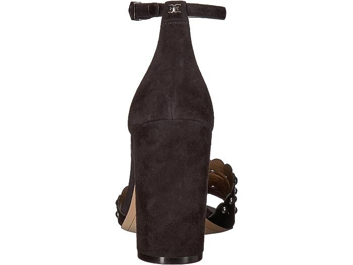 WOMEN YARIA STUDDED SUEDE ANKLE STRAP BLOCK HEEL DRESS