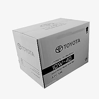 زيت محرك لحماية معدن سيارة تويوتا بتقنية صناعية مصنوع من عدة زيوت 10W-40-12 قطعة * 1 لتر