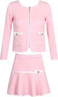 Girls' Elegant Knit Suit with Skirt Size 2-10 Rh1963