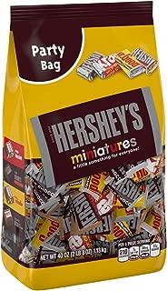 HERSHEY'S Chocolate Assorted Miniatures, Krackel, Mr. Goodbar & Hershey's Special Dark Chocolate Candy Bars, Party Bag, 40oz.