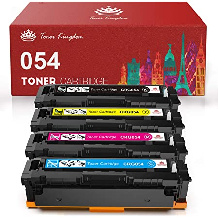 Toner Kingdom Compatible Toner Cartridge Replacement for Canon 054 CRG-054 for Canon Color ImageClass MF644Cdw MF642Cdw MF640C LBP622Cdw - 4Pack(1B 1C 1M 1Y)