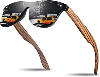 Zebra Wooden Bamboo Sunglasses Polarized for Men and Women - Wood Temples Sunglasses S5029