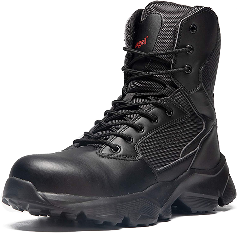 Super Special SALE held cungel Popular products Men's Steel Toe Work Industrial Construc Size Zipper Boot