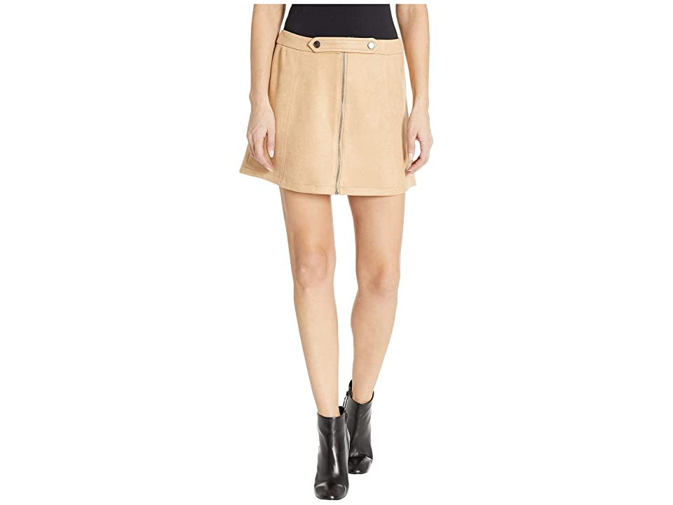 Jack by BB Dakota Lady Crush Faux Suede Skirt (Sienna) Women