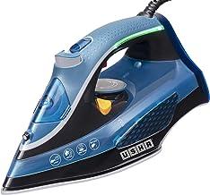 USHA Aqua Glow Smart Steam Iron 2000 W with Innovative LED Indicator On Handle, Durable Ceramic Soleplate, Powerful Steam ...