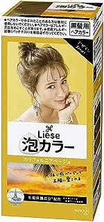 KAO Japan Liese Prettia Creamy Bubble Hair Color for Dark Hair (California Beige)