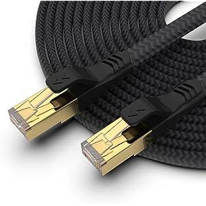 Mukodi CAT7 Braided Flat Ethernet Cable