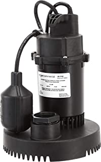 AmazonCommercial 1/3 HP Thermoplastic Submersible Sump Pump with Tethered Float Switch