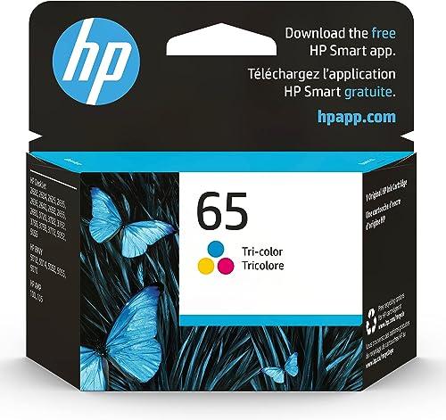 Original HP 65 Tri-color Ink Cartridge | Works with HP AMP 100 Series, HP DeskJet 2600, 3700 Series, HP ENVY 5000 Ser...