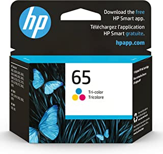 HP 65 | Ink Cartridge | Tri-color | Works with HP DeskJet 2600 Series, 3700 Series, HP ENVY 5000 Series, HP AMP 100, 120, ...