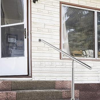 VEVOR Pasamanos de Escaleras 80x90 cm Pasamanos de Acero Inoxidable 80x90 cm Pasamanos Escalera con Soporte y Tacos Metálicos Barandillas de Acero Inoxidable para Interiores y Exteriores Escaleras: Amazon.es: Bricolaje y herramientas