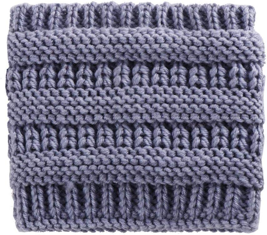 ZFCMIAO Women Knitted Headbands Winter Warm Head Wrap Wide Hair Accessories Hat Girl Head Wrap Wide Ear Warmer Hairband Girls-Blue_One Size