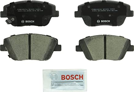 Bosch BC1444 QuietCast Premium Ceramic Disc Brake Pad Set For: Hyundai Sonata; Kia Optima, Front and Rear