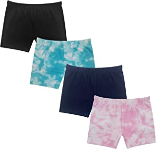 The Popular Store Girl's Cotton Under Dress Shorts - 4 Pack