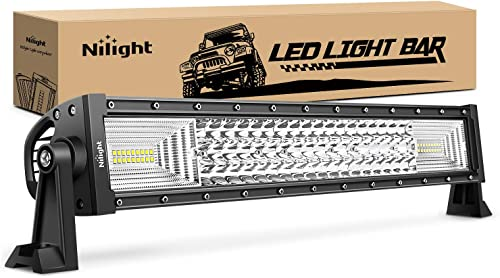 new arrival Nilight outlet sale - 18016C-A LED Light Bar 22Inch 270W Triple Row 27000LM online Flood Spot Combo Beam Led Bar Driving Lights Boat Lights Super Bright Led Off Road Lights for Trucks,2 Years Warranty outlet sale