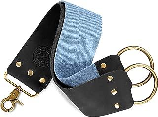 Shaving Razor Strop - Keep your Blades Sharp, Great Leather Shaving Strop. Blue Linen Belt For Cleaning. Straight Razor Sharpener Strop. Nice Leather Honing Strop, Straight Razor Strap