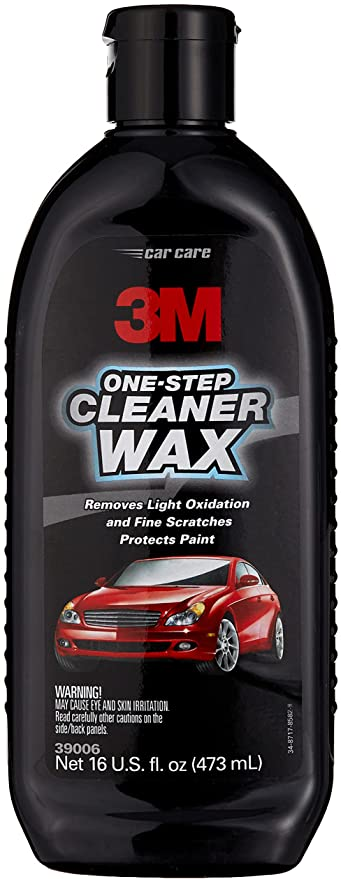 3M One Step Cleaner Wax, 39006, 16 oz , White: image