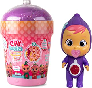 Cry Babies Magic Tears Tutti Frutti House - Surprise Mini Collectible Scented Dolls with Real Tears and 9 Accesories, Figu...