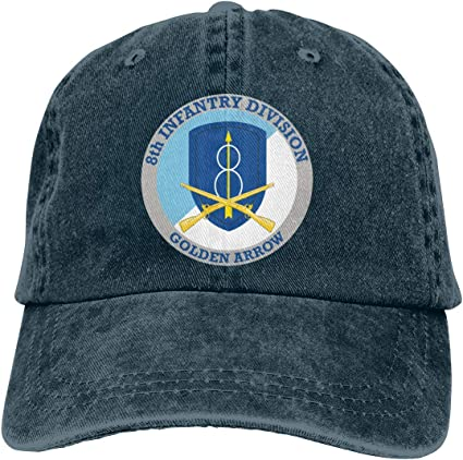 US Army Veteran 28th Infantry Division Adjustable Baseball Hat Denim Cap Dad Hat