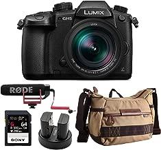 Panasonic LUMIX GH5 4K Mirrorless Camera w/Leica 12-60mm (DC-GH5LK) w/ 64GB UHS-II + VideoMic Go + Havana Bag