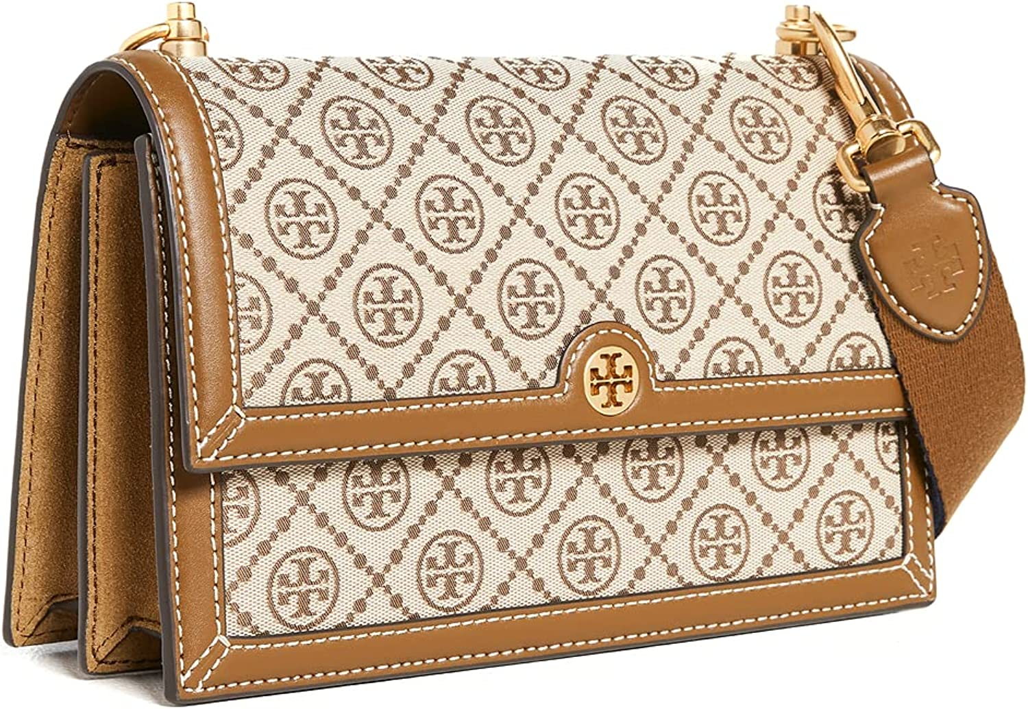 Tory Burch Women's T Bag Spring new work Jacquard Monogram Limited Special Price Shoulder