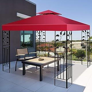 Wenst'sKufAN 10' x 10' Canopy Cover, Heavy Duty Durable Waterproof Sun Snow Rain Shelter, Outdoor Patio Gazebo Replacement...