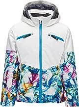 Spyder Girl's Conquer Ski Jacket – Kids Full Zip Hooded Winter Coat