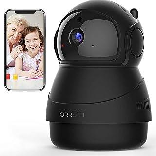 ORRETTI X8 1080p WLAN IP-camera, wifi bewakingscamera met bewegingsdetectie - HD babyfoon met camera - nachtzicht, 2-weg a...