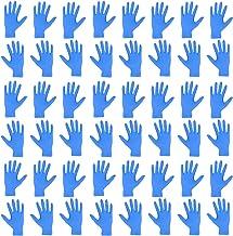 KESYOO 50 Piezas Médico de 9 Pulgadas Guantes de Látex de Nitrilo Desechables Guantes de Nitrilo para Uso Doméstico de Grado Alimenticio para Restaurante de Cocina de Laboratorio Casero - Tamaño S