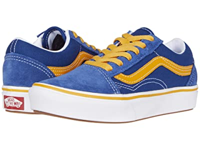 Vans Kids ComfyCush Old Skool (Little Kid) ((Pop) True Blue/Cadmium Yellow) Boys Shoes