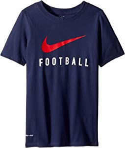 Dry Swoosh Football Tee (Little Kids/Big Kids)