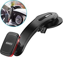 Car Phone Mount Dashboard, APPS2Car Universal Adjustable Magnetic Phone Car Mount with Industrial-Strength Suction Cup, Built-in 6 Strong Magnets, Metal-Alloy Frame Construction Phone Holder for Car