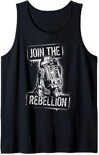 Star Wars R2-D2 White Spray Paint Join The Rebellion Débardeur