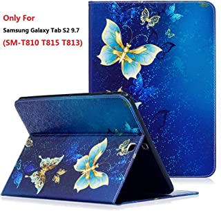 Samsung Galaxy Tab S2 9.7 (SM-T810 / T815 / T813) Case, YMH Magnetic Flip Folio Cute Auto Sleep/Wake Multi Angle Stand Pocket Wallet Case Cover PU Leather Case for Samsung Galaxy Tab S2 9.7 (02)