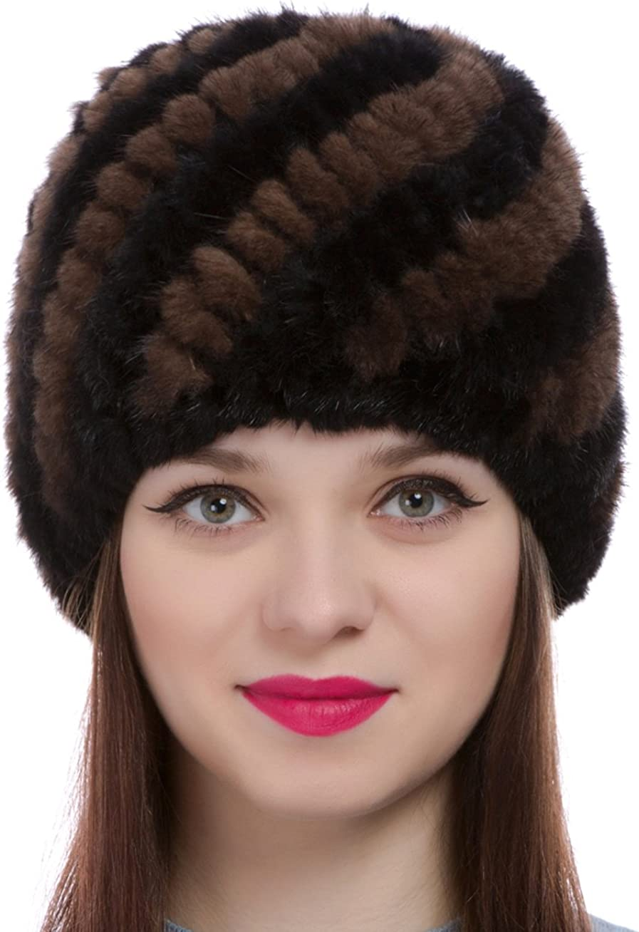 All items in the store Womens Girls Knitted Real OFFer Mink Fur Hat Warm Winter Cap Beanie