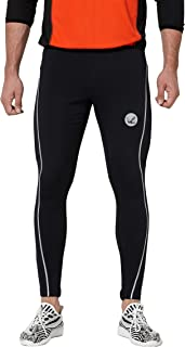 Men's Elite Design Winter Thermal Running Tights Long Pants with Ankle Zipper and Reflective Elements