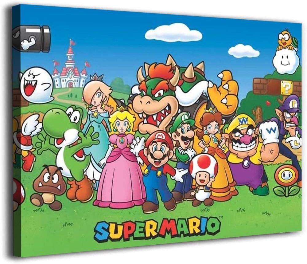 Canvas Prints Framed Personajes De Bros Wall AL完売しました。 日本正規代理店品 Mario Be Art