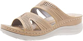 Comfortabele strandsandalen voor dames, strandsandalen, badschoenen, slippers, huisschoenen, huisschoenen, slippers, sleeh...