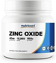 Nutricost Zinc Oxide Powder 500 Grams - Non GMO and Gluten Free