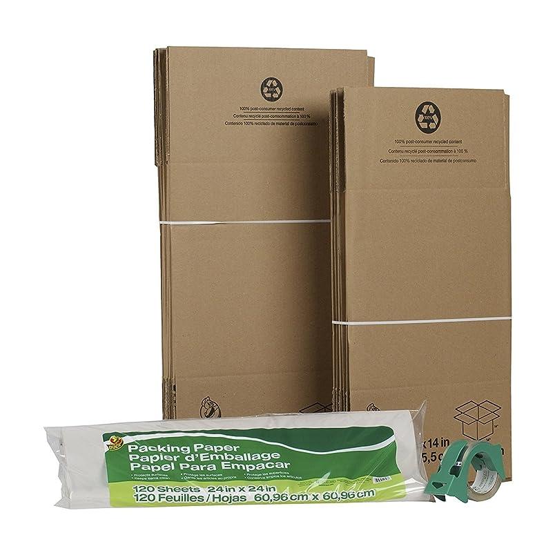 Bulk Moving Kit w/Boxes, Tape & Packing Paper: Duck Brand 280378 (15 Moving Kits) oi593540603