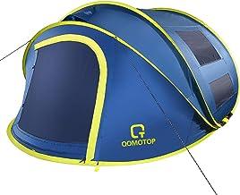 OT QOMOTOP 4 Person Pop up Tent, 9.5'X7'X50'', 10 Second Setup Tent, Waterproof Tent, 2 Big Doors and 2 Roof Vents, 4 Vent...