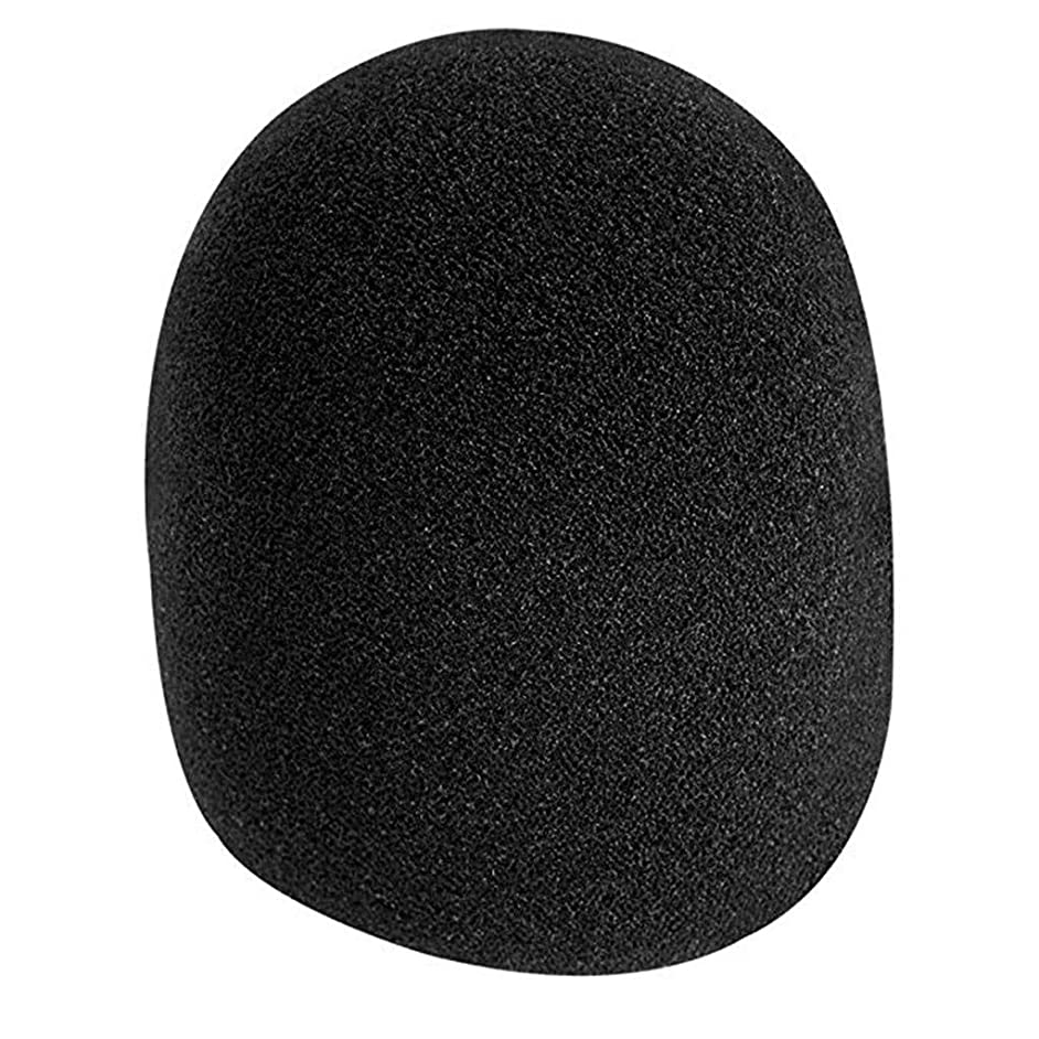 Fullwei 5 Pack Foam Mic Cover Thick Handheld Mic Windscreen - Ball-Type Anti Saliva Windshield for Microphones New (Black)