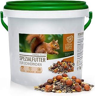 wildtier herz Artgerechtes Eichhörnchenfutter 1kg für Eichhörnchen und Streifenhörnchen I Ganzjahres Futter für Eichhörnchen I Streifenhörnchen Futter